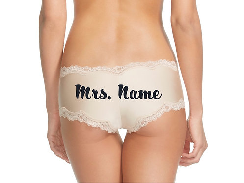 Personalized Nude Cheeky Panty | Mrs. {Name}