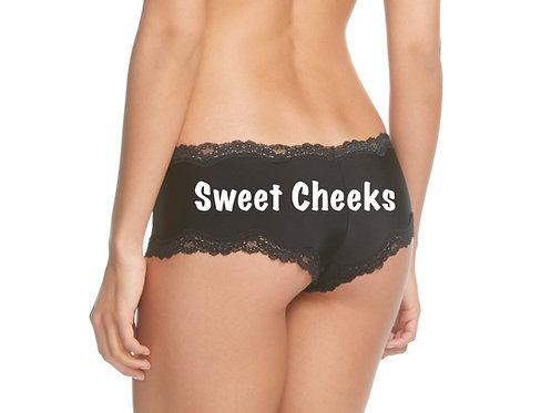 Sweet Cheeks Black Cheeky Underwear