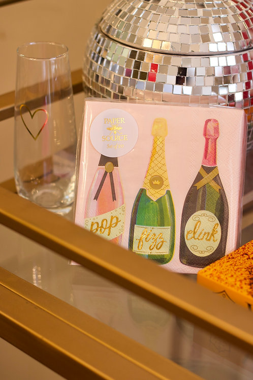 Sparkling Champagne Cocktail Napkins