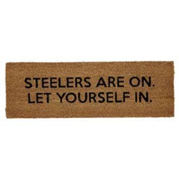 Football Fan Rug- Steelers