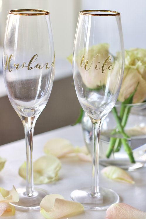 A Toast to Us - Champagne Glasses