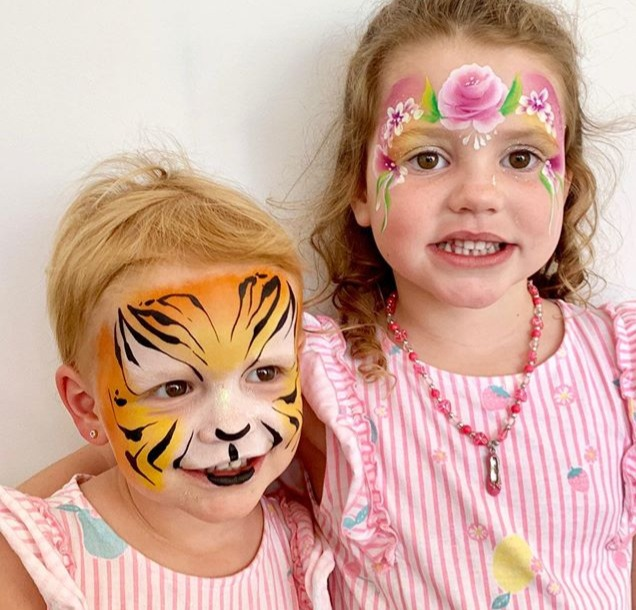 Face painting was a huuuuuge hit this we