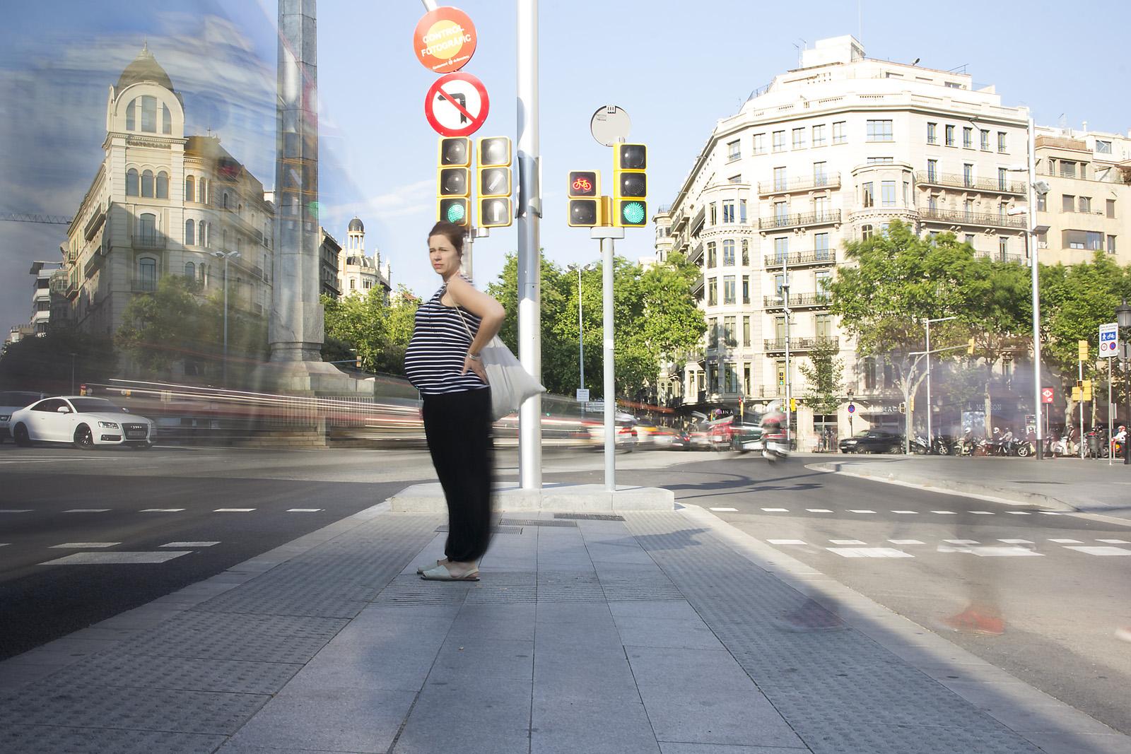 Pregnant on the Diagonal, Barcelona