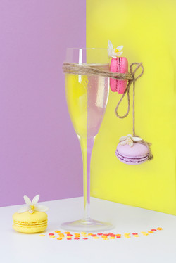 Champagne and Macarons