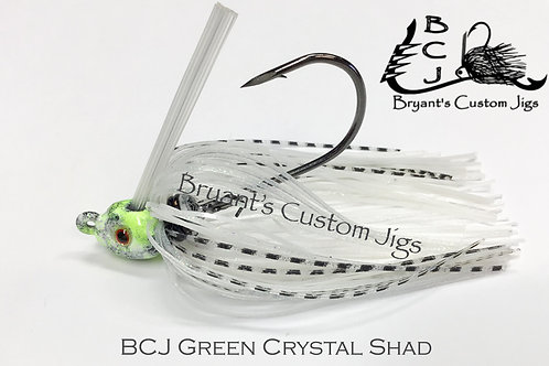 Green Crystal Shad Swim Jig