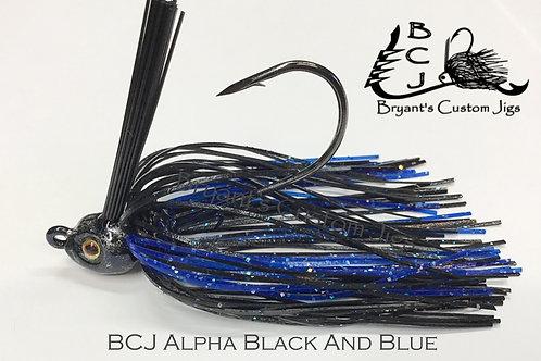 Alpha Black and Blue Swim Jig