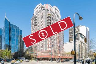 1306 - 811 Helmcken St. Vancouver - $435,000
