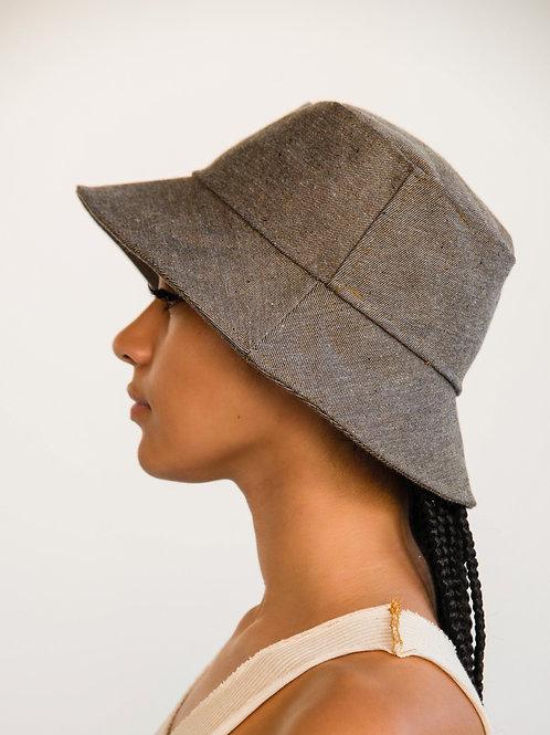 Chocolate Denim Bucket Hat
