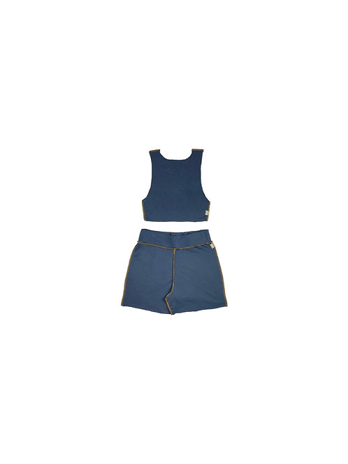 BYMJ Basic Blue Short Set