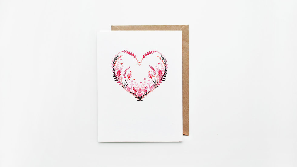 Floral Love Heart Card