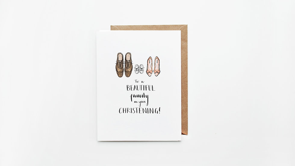 Family Christening Card