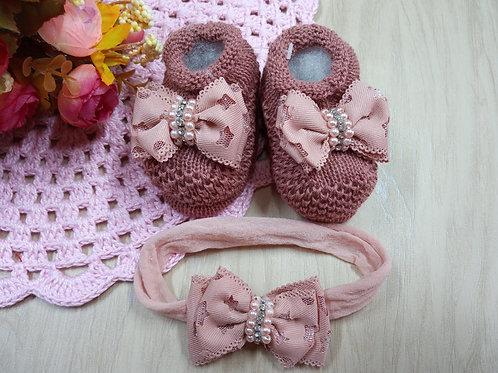Kit Sapatinho de bebê em tricô