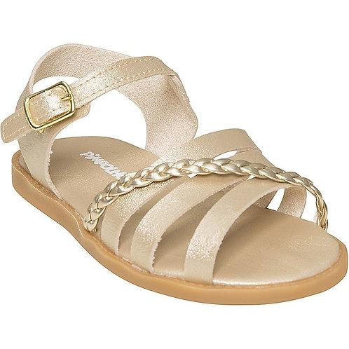 Sandália Dourada Menina - Pimpolho