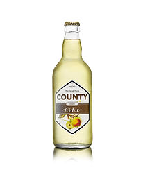 A bottle of County Apple semi dry cider