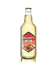 A bottle of our County Peach sweet cider