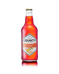 A bottle of our Count Bloo Orange sweet cider