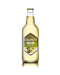 A bottle of our County Pear craft cider