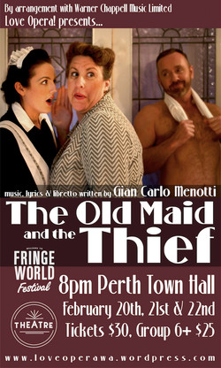 The Old Maid and the Thief Poster