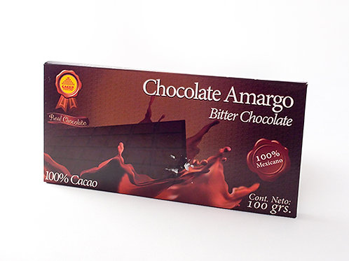 Chocolate Amargo 100% Cacao