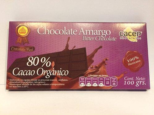 Chocolate 80% 100 gr.