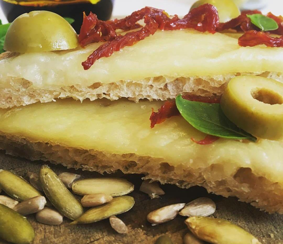 pan sin gluten con queso vegano
