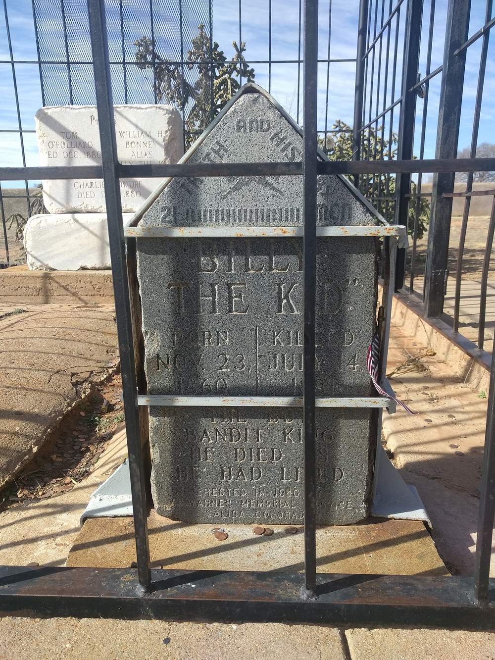 Billy the Kid's tombstone