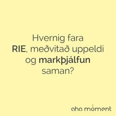Verkfærakista markþjálfans vs. verkfæri RIE/meðvitað uppeldi