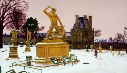christian-laloux/peinture/beaux-arts/decoration/paris/tuileries/chaises/fermob/neige/Louvre/acrylique/toileThésée-combatant-le-Minotaure.jpeg
