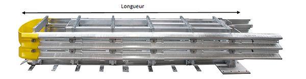 Desami glissières de sécurité dispositif de retenue atténuateur de choc