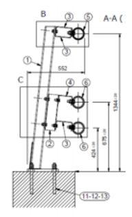 Desami glissières de sécurité dispositif de retenue