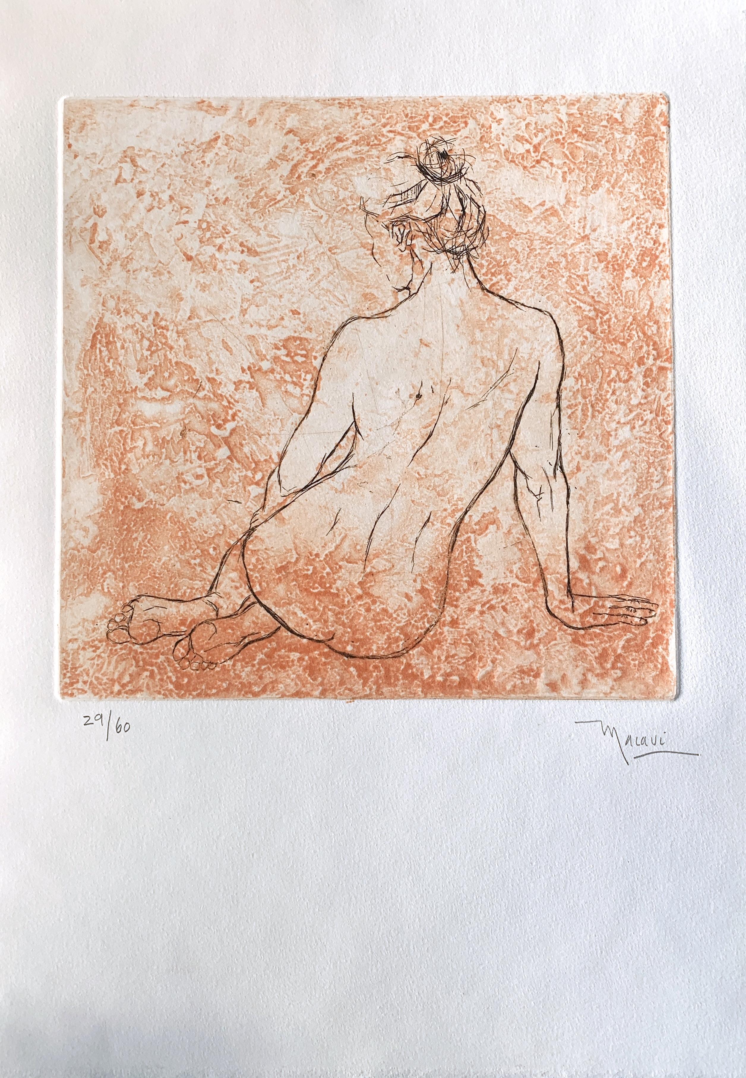 Mujer  III   grabado      28 x 39  cm.