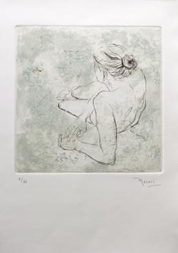 Mujer I   grabado      28 x 39  cm.