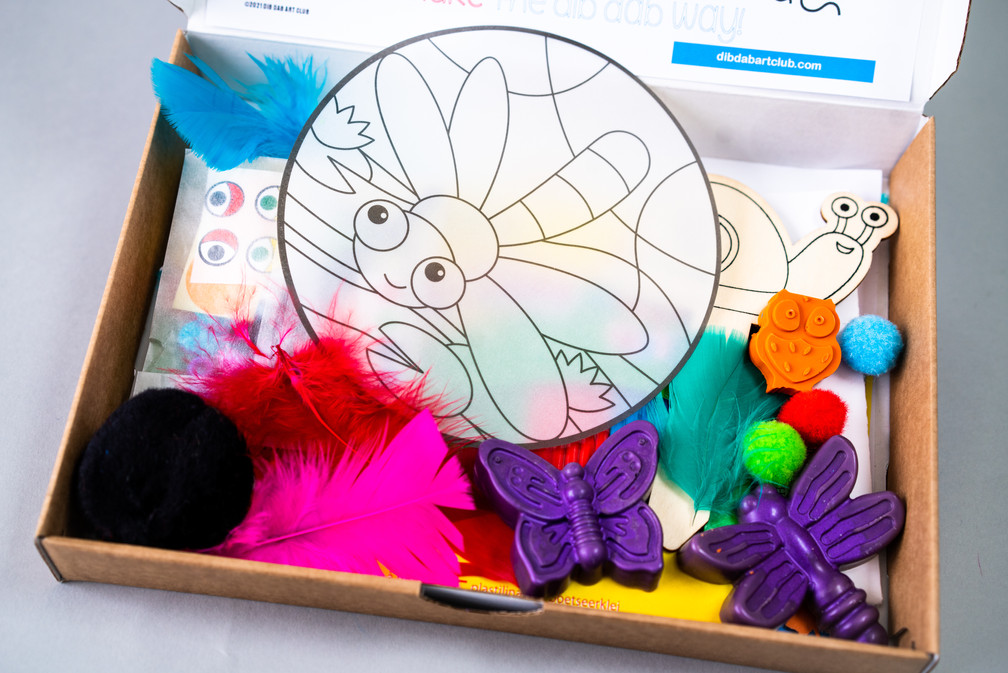 handmade crayons in our Nature Spotting box