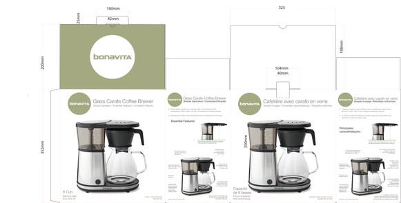 Bonavita Coffee Brewer Packaging