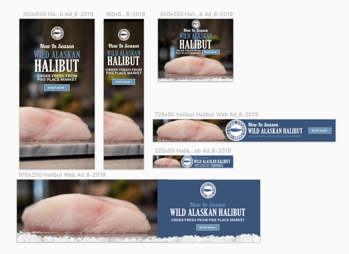 Fresh Halibut Web Ads