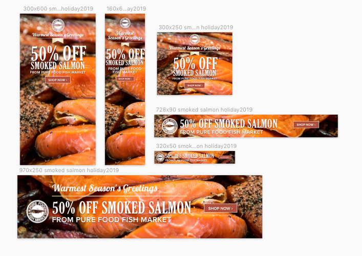 Smoked Salmon Web Ads