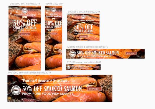 Smoked Salmon Web Ads