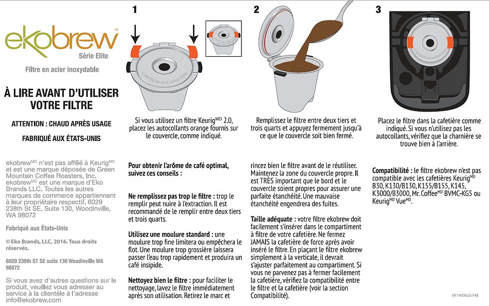 Ekobrew Packaging Instructions