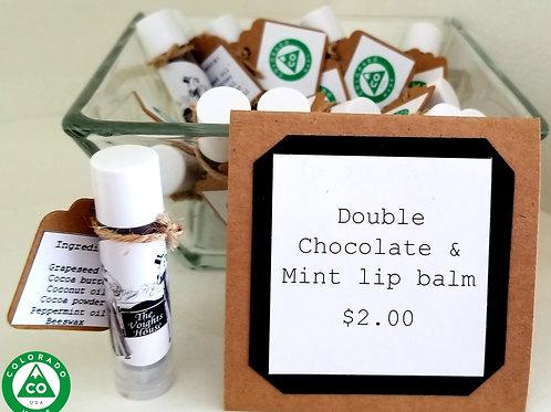 Double chocolate mint lip balm