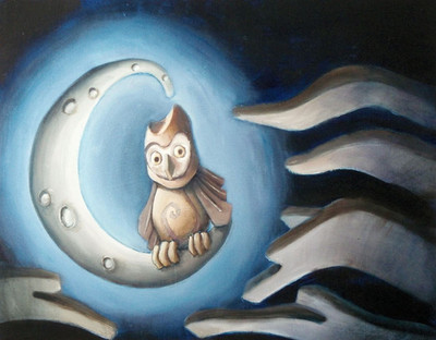 Owl in the Moon
