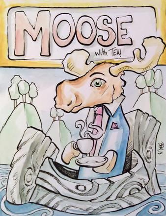 Moose Having Tea