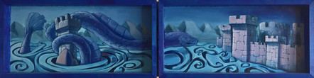 Three Dragons Triptych (closed)