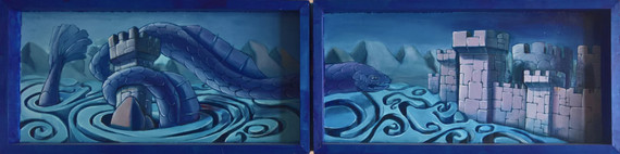 Three Dragons Tryptych (closed)