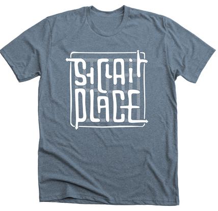 Slate Blue Unisex T-Shirt with White Print