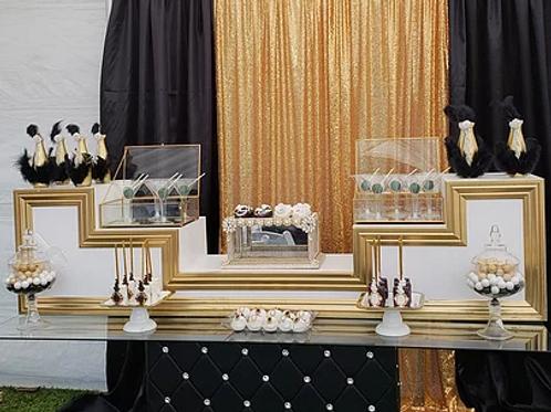 Gold & White Dessert Stands