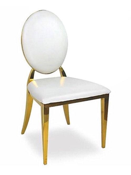Leather (Gold & White) Washington Chair