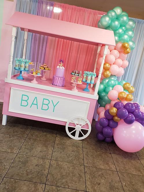 Pink Dessert Cart