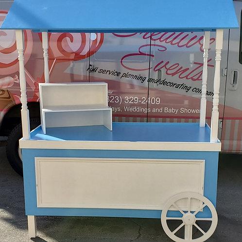Blue Dessert Cart