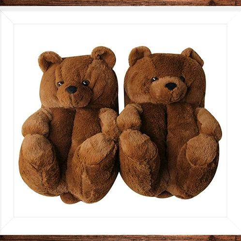 Plush Teddy Bear Slippers