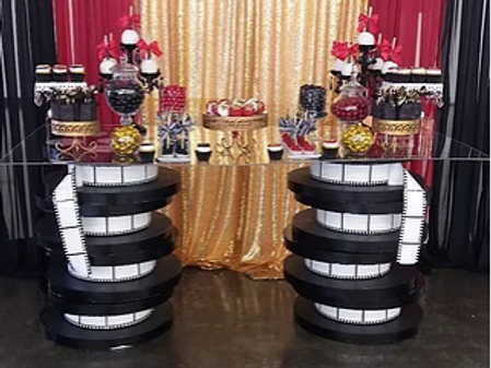 Film Reel Dessert Table